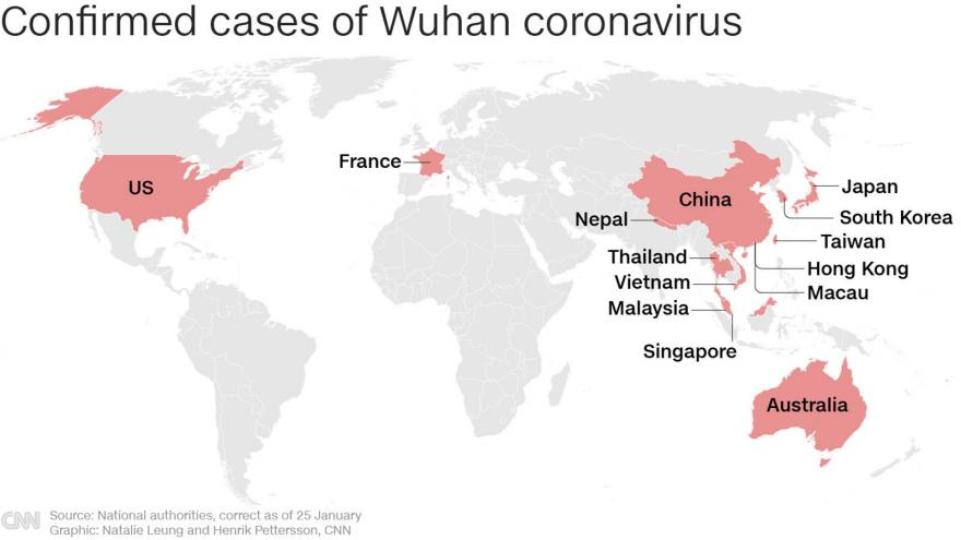 California patient is 3rd USA case of new virus from China