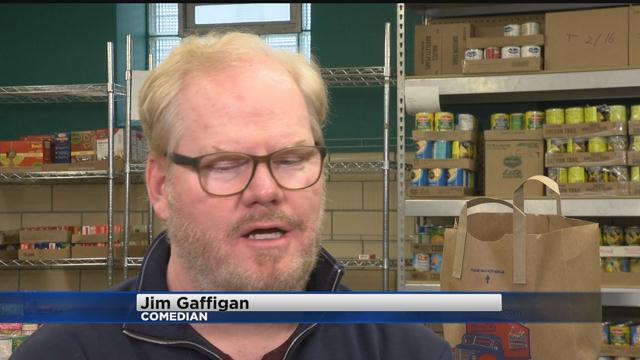 Jim Gaffigan And Family Volunteer At Riverwest Food Pantry