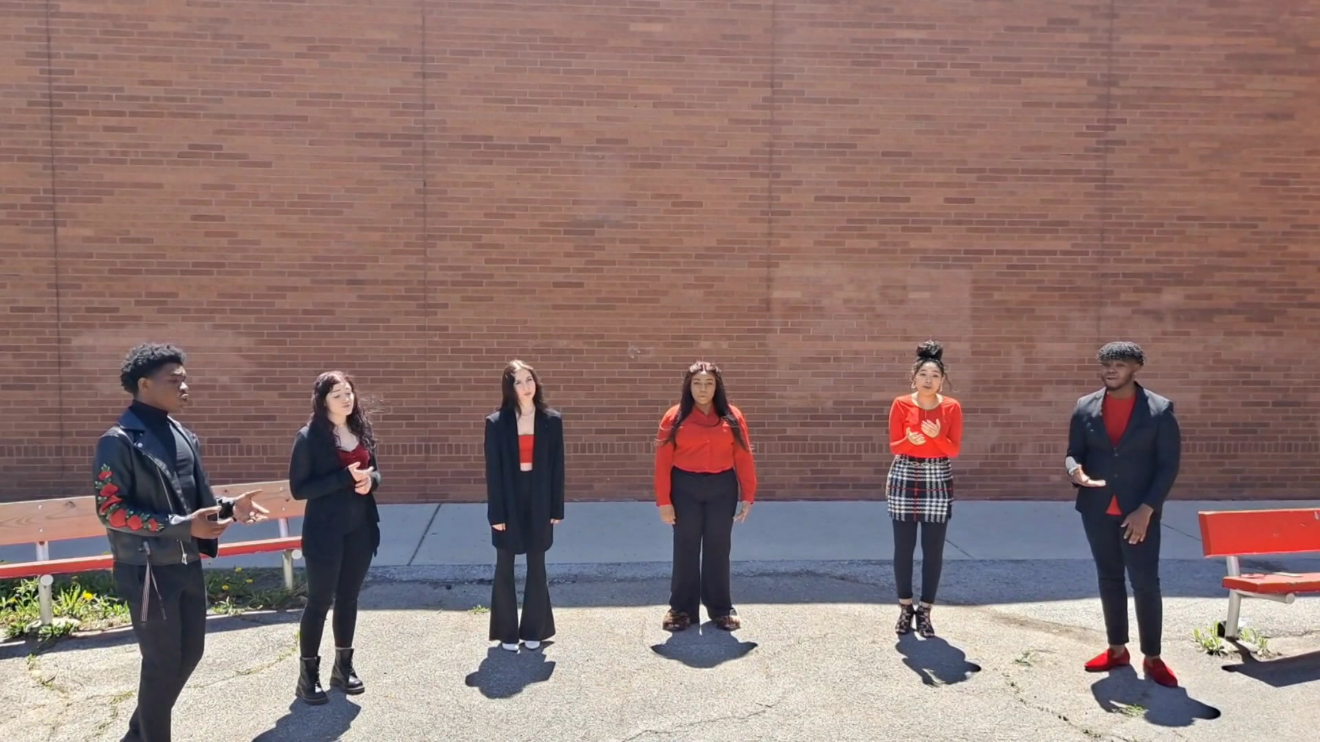 Milwaukee High School of the Arts vocal ensemble. by